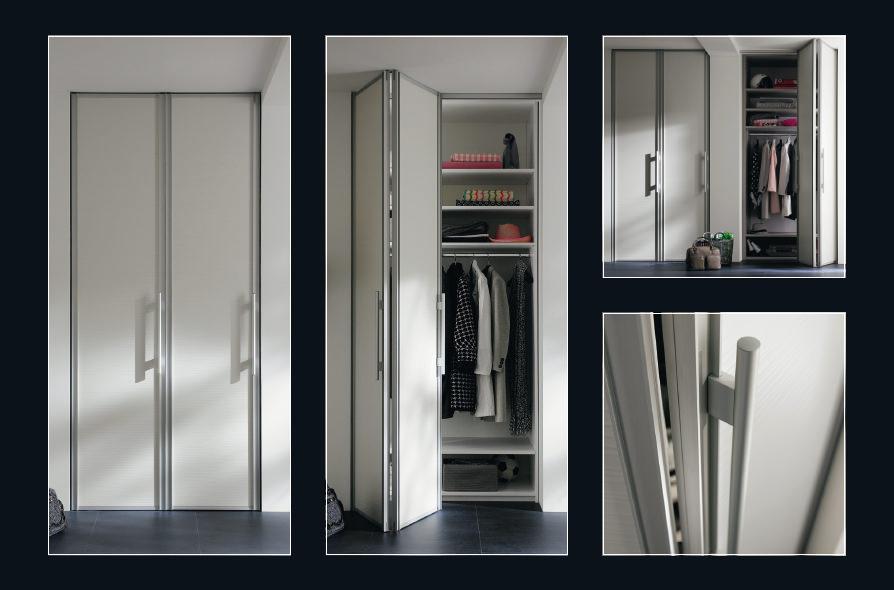 Установка метровых шкафов со складной системой cupedoors.